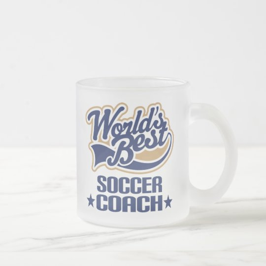 Soccer Coach Gift Frosted Glass Coffee Mug