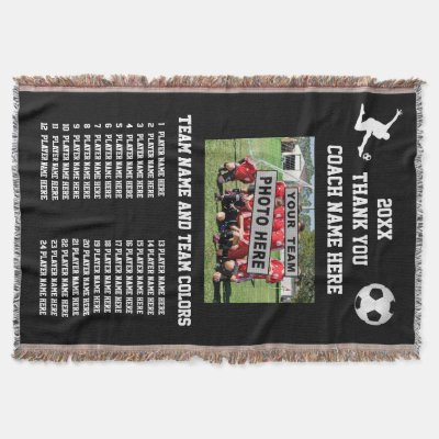 sc 1 st  Zazzle & Team Photo Players Names Great Soccer Coach Gifts Throw | Zazzle.com