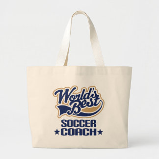 Soccer Coach Gift Large Tote Bag