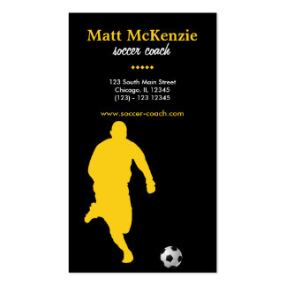 Soccer Coach (Gold) Business Card Templates