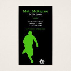 Soccer Coach (green) Business Card at Zazzle