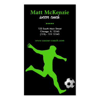 Soccer Coach (Green) Business Cards