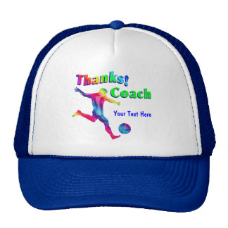Soccer Coach Hoops Thank You Hat