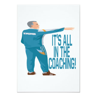 Soccer Coach 5x7 Paper Invitation Card