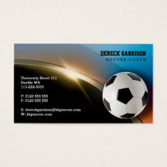 Soccer Coach | Modern Sports Gifts Business Card at Zazzle