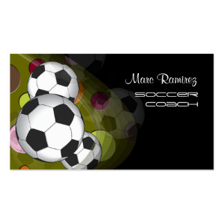 Soccer coach or soccer moms calling cards business card