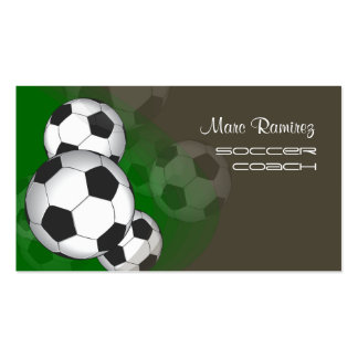 Soccer coach or soccer moms calling cards business card templates