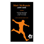 Soccer Coach (Orange) Double-Sided Standard Business Cards (Pack Of 100)