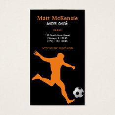 Soccer Coach (orange) Business Card at Zazzle