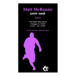 Soccer Coach (Orchid) Business Card