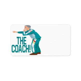 Soccer Coach Personalized Address Label