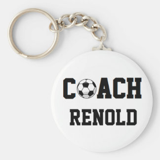 Soccer Coach Personalized Basic Round Button Keychain