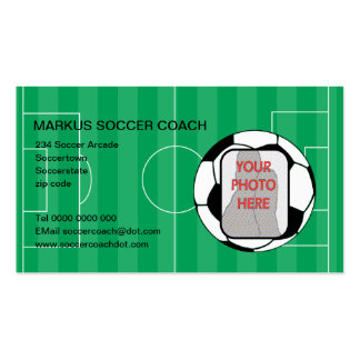 Soccer Coach Photo customizable business cards