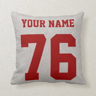 Soccer Coach Pillow, Add Your Name and Number Throw Pillow