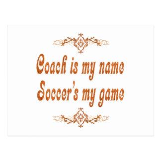 Soccer Coach Postcard