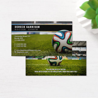 Soccer Coach | Professional Sports Business Card