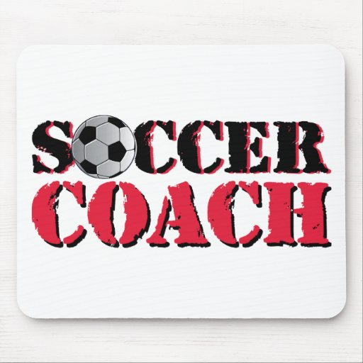 Soccer Coach (red) Mousepads