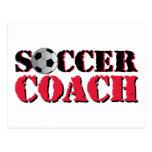 Soccer Coach (red) Postcard