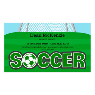 Soccer coach/Soccer player (green) Double-Sided Standard Business Cards (Pack Of 100)