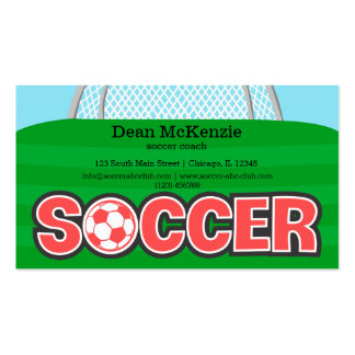 Soccer coach/Soccer player (red) Double-Sided Standard Business Cards (Pack Of 100)