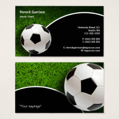 Soccer Coach | Sports Gifts Business Card at Zazzle