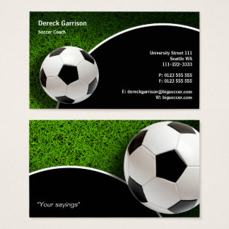 Soccer Coach Sports Gifts Business Card