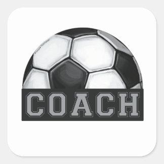 Soccer Coach Square Sticker