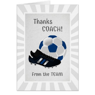 Soccer Coach Thank You From the Team Greeting Card