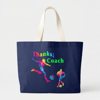 Soccer Coach Thank You Jumbo Tote Jumbo Tote Bag
