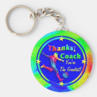 Soccer Coach Thank You Keychain