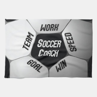Soccer Coach Thanks Large Ball Kitchen Towel