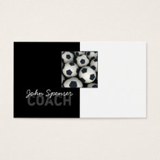 Soccer Coach Trainer Sports Goal Business Card at Zazzle