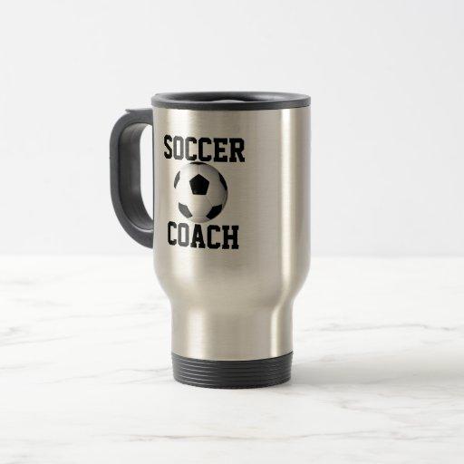 Soccer coach travel mug