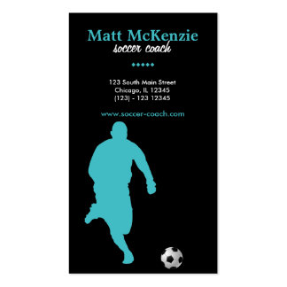 Soccer Coach (Turquoise) Business Cards