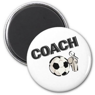 Soccer Coach (Whistle/Ball) 2 Inch Round Magnet
