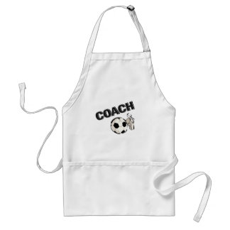 Soccer Coach (Whistle/Ball) Adult Apron