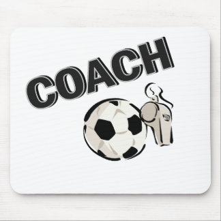 Soccer Coach (Whistle/Ball) Mouse Pad