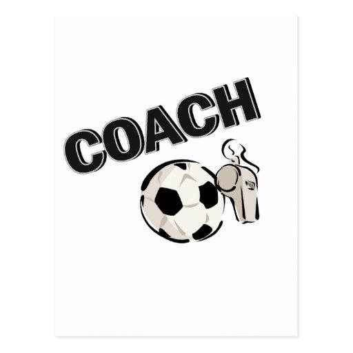 Soccer Coach (Whistle/Ball) Postcard