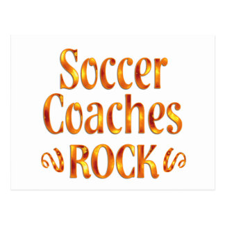 Soccer Coaches Rock Postcard