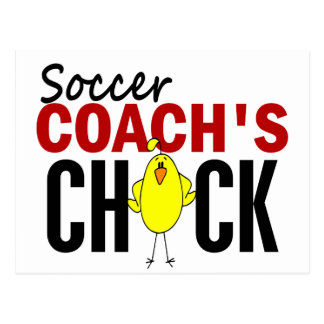 Soccer Coach's Chick Postcard