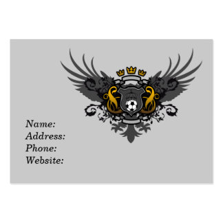 Soccer Coat of Arms Large Business Card