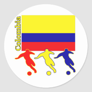 Soccer Colombia Classic Round Sticker