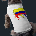 """Soccer Colombia Tee<br><div class=""""desc"""">Three soccer players play in front of the Colombian flag.   Country name Colombia is on the side</div>"""