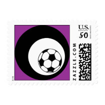 soccer : color customizable : postage