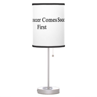 Soccer Comes First Desk Lamp