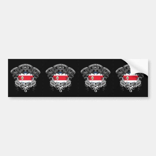 Soccer Costa Rica Bumper Sticker