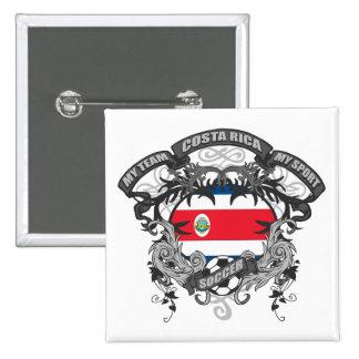 Soccer Costa Rica Pinback Button