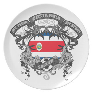 Soccer Costa Rica Dinner Plate