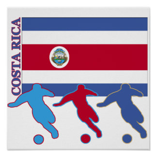 Soccer Costa Rica Poster