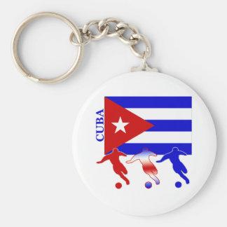 Soccer Cuba Basic Round Button Keychain